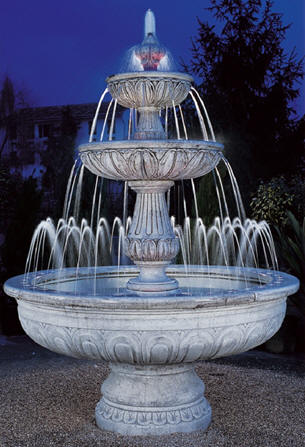 Fontane da giardino decorclass fontane in cemento bianco for Fontane da esterno moderne